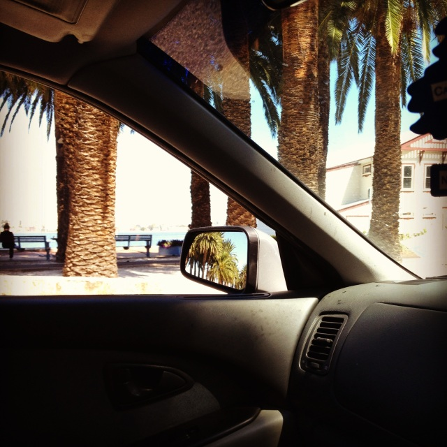 在开车我的汽车,zài kāi chē wǒ de qìchē, driving my car